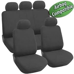 Fundas para asientos universales para autos algodón gris oscuro
