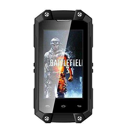 Hipipooo J5+ Waterproof Dustproof Shakeproof Mini Rest-Pocket 2.45'' Smartphone With Android 5.1 3G Unlocked Mobile Phone MT6580M Quad-Core,Dual SIM Card Slot(Black) by Hipipooo