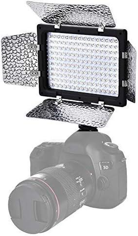 Pokerty Video Lamp Video Photography Light Lamp Panel 6000K LED for DSLR Camera DV Camcorder