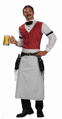 Forum Novelties Men's Plus-Size Bartender Plus Size Costume, Multi, (Saloon Halloween Costumes)