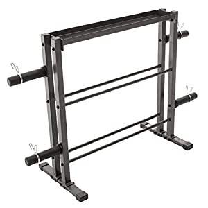Marcy Combo Weights Storage Rack for Dumbbells, Kettlebells, and Weight Plates DBR 0117