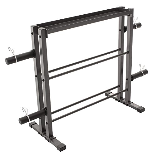 Combo Weights Storage Rack for Dumbbells, Kettlebells, and Weight Plates DBR 0117