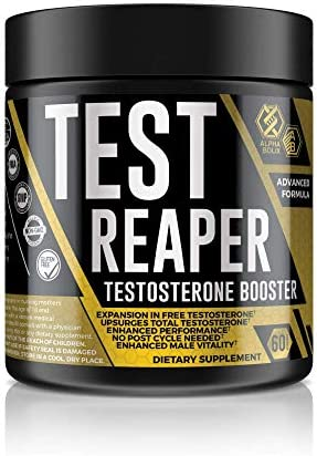 Test Reaper Natural Testosterone Booster for Men with 145 Steroidal Saponins and L-Arginine HCI for Increased Strength Muscle Mass Male Vitality and Stamina 30 Servings