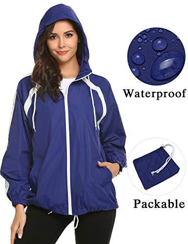 - ZHENWEI Anorak Jacket Shell Rain Jacket Windbreaker Women Lightweight Waterproof Zip Fashion Trench Casual 2018 for Snow