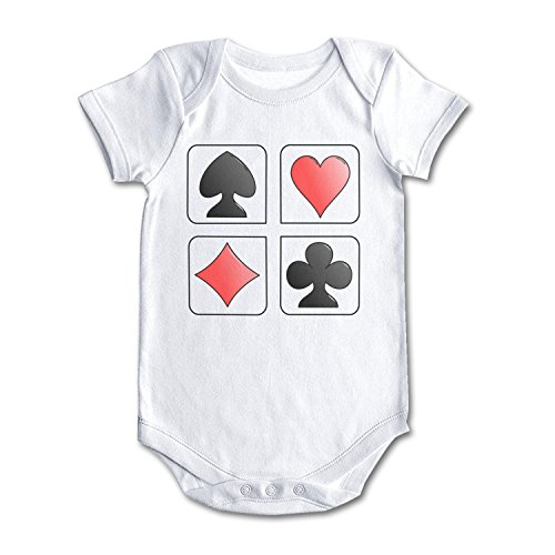 - bbabylike Playing Card Symbols Clipart Cool Design Baby Girl Boy Newborn Clothes White