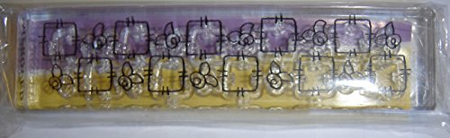 - Clear Impressions Acrylic Stamp, Rose Border