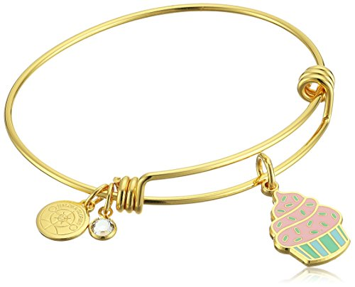 Halos & Glories, Cupcake Shiny Gold Bangle Bracelet -