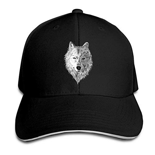 William A Magee7 Unisex Wolf Tattoo Individual Casquette Black