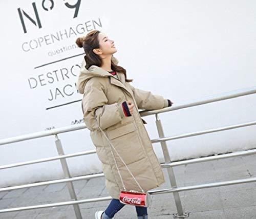 Duvet Lâche Veste Xwh En Et Pain Longue Étudiant Coton sur De Pour Kaki D'hiver Femmes Moyenne Genou Le rrwZd6