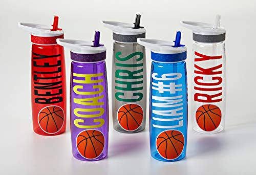 Basketball Water Bottle - Personalized Water Bottle - Team Gift