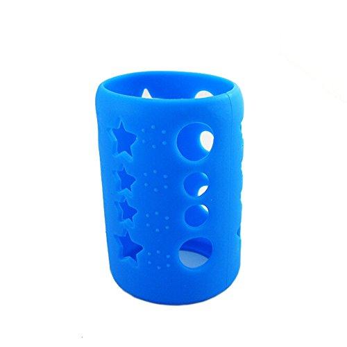 Savior Glass Baby Feeding Milk Bottle Sleeve Silicone Bottle Cover Protect Insulating (S 120ml, (Evenflo Cozy Sleeve)