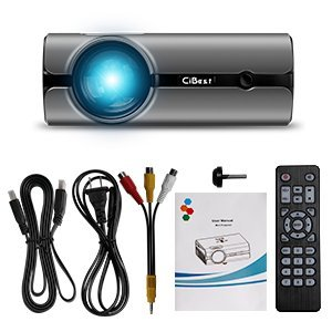 Video Projector, CiBest +80% Lumens 4Inch Mini Projector with 170