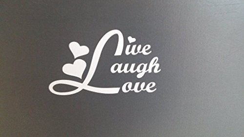 Live Laugh Love Decal Vinyl Sticker|Cars Trucks Walls Laptop|WHITE|5.5 in|KCD493