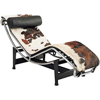 Fine mod lc4 black chaise lounge chair for Chaise longue le corbusier precio
