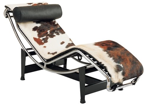 Le Corbusier Leather Chaise Lounge LC4 - Pony