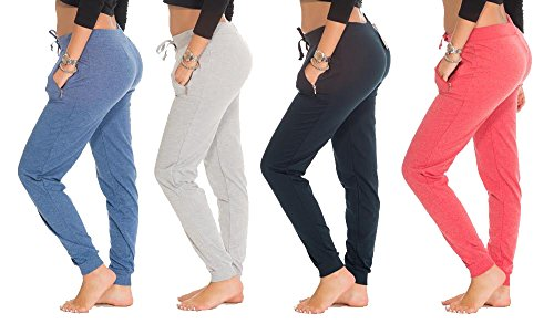 e177p-ast1-ast-m-4-pack-ladies-french-terry-long-pant-denim-heather-grey-navy-red
