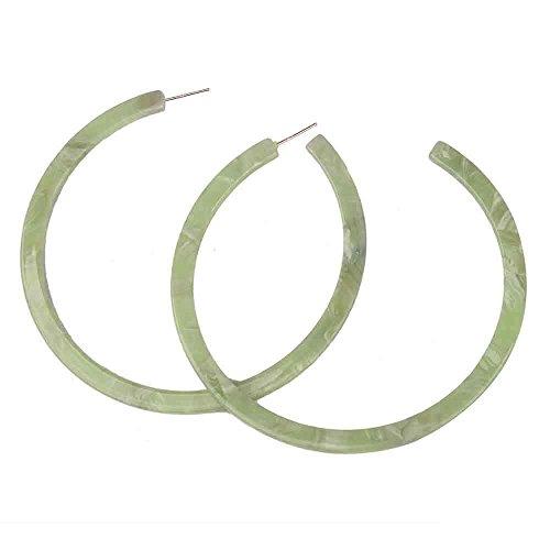 Acrylic Earrings 3 x 3 Original design 925 Sterling Silver Ears Simple Fashion Personality Earrings for women