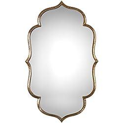 Arabesque Quatrefoil Gold Moroccan Mirror