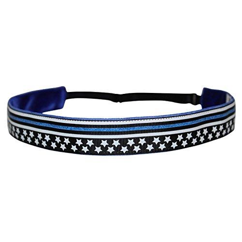 BEACHGIRL Bands Headband - Non-Slip Adjustable Hair Band Women & Girls Thin Blue Line by BEACHGIRL