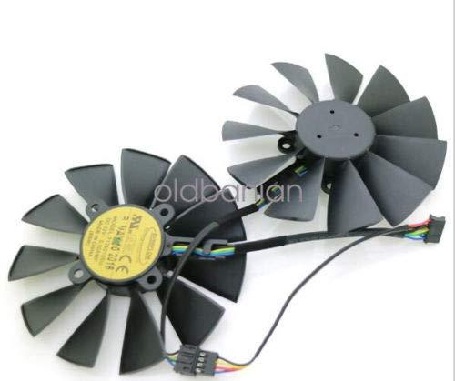 FidgetFidget ASUS Strix GTX970 980 780 STRIX-R9285 T129215SU Graphics Card Cooling Fan 5Pin