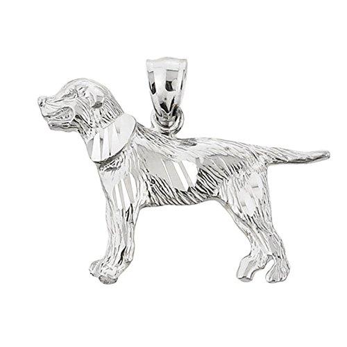 - Golden Retriever Sterling Silver Dog Pendant