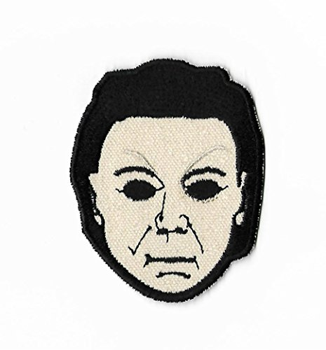 (Halloween Patch (3.5 Inch) Embroidered Iron on Badge Applique Michael Myers Mask Horror Movie Souvenir Slasher Costume Resurrection)
