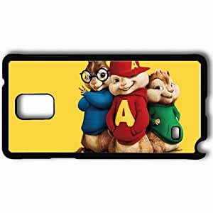 Personalized Samsung Note 4 Cell phone Case/Cover Skin Alvin and the chipmunks movies Black