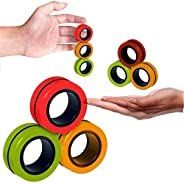 Fingears Magnetic Rings Fidget Toy - Stress Relief Magnetic Bracelet Ring Unzip Toy Magic Ring Props Tools Dec
