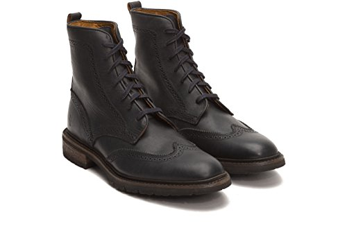 Frye Mens James Lug Wingtip Botte De Combat Noir