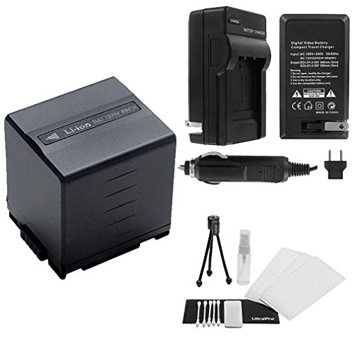 CGA-DU21 High-Capacity Replacement Battery with Rapid Travel Charger for Panasonic PV-GS400 PV-GS500 PV-GS50 PV-GS50S PV-GS55- UltraPro Bonus Kit ()