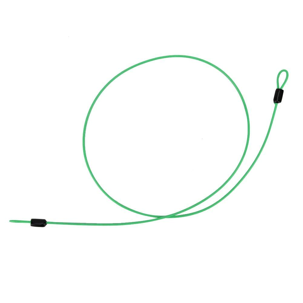 Green Double Looped Stainless Steel Security Lock Cable for Bicycle Security Steel Cable Loop Cable Bicycle Scooter Lock
