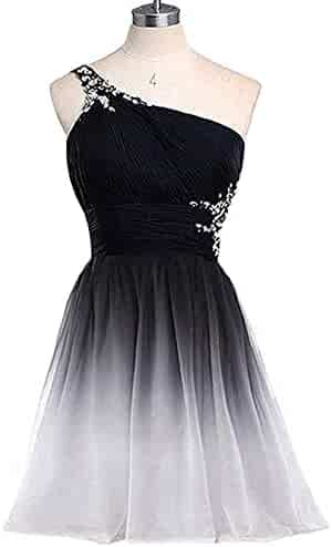 46177584a6d Formal Lady Women s Ombre Beaded Homecoming Dresses Crystals Prom Gown  Short Gradient Backless Chiffon Cocktail Dresses