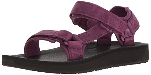 Purple Original Teva W Leather Universal Premier Dark Sandal Women's 46HqS86w