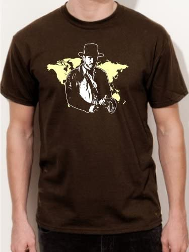 Camiseta de Indiana Jones Harrison Ford película Kult Camiseta E46, Hombre, marrón, Small: Amazon.es: Deportes y aire libre
