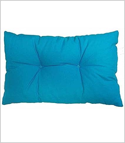 BRISA JARDIN COJÍN RIÑONERA Liso 40x60 cm, Azul Turquesa ...