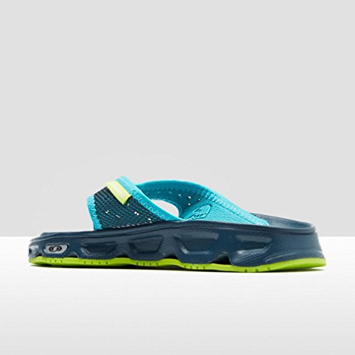 Salomon Rx Break W, Chanclas para Mujer Azul (Reflecting Pond/Deep Peacock Blue/Lime Green)