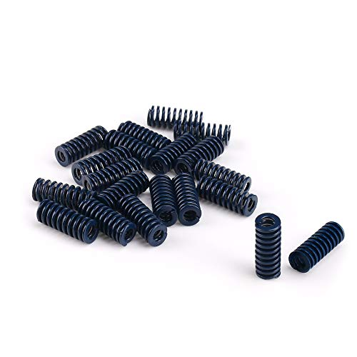 Die Spring Light Duty Rectangular Coil Stamping Compression Mold Spring 8mm Hole Diameter Long Light Load Compression Mould Die Spring 20 Pieces (Blue) ()