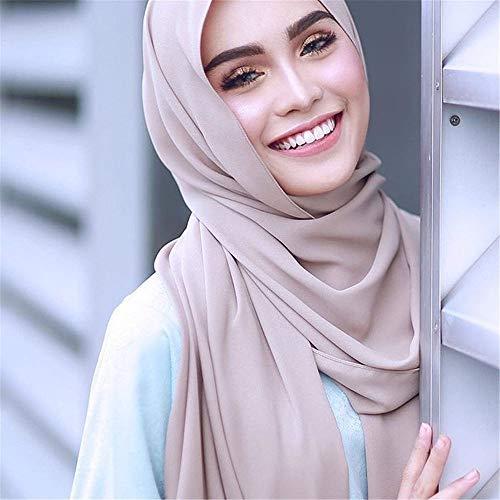 sciarpa cotone cappello delle per e Nero la con turbante chemioterapia sciarpa cappello hijab lino spiegazzato cappuccio perla peloso cappuccio donne integrale islamico ODJOY FAN musulmano f5qw6fY