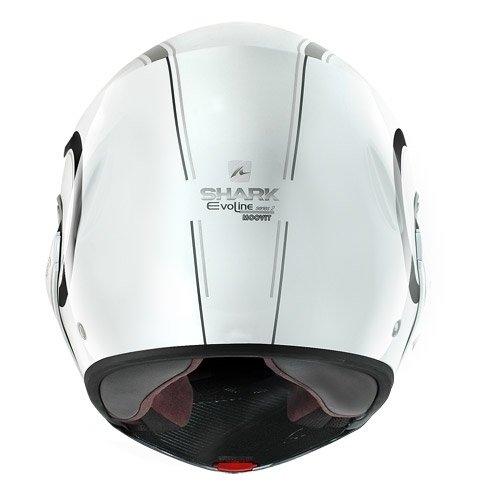 Shark EvoLine Series 2 Moovit Helmet (White/Black/Silver, X-Small)