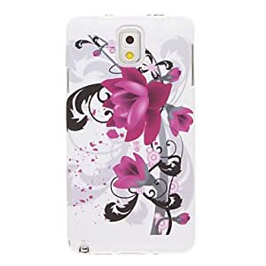 Big Purple Flowers Pattern Plastic Soft Back Case Cover for Samsung Galaxy Note3 N9000