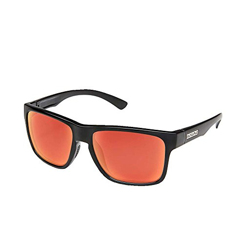 Suncloud Rambler Polarized Sunglasses, Black, Red - Glasses Fishing Suncloud