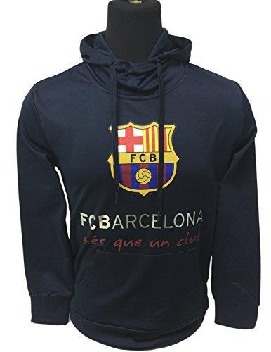FC Barcelona Hoodie For Kids, Official Barcelona Navy Pull Over Hoodie, Hooded Sweatshirt (Youth Medium 7-9 Years)