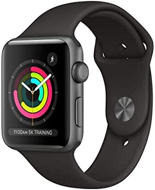 Apple Watch Series 3 (GPS, 38MM) - Space Gray Aluminum Case with Black Sport Band (Renewed)