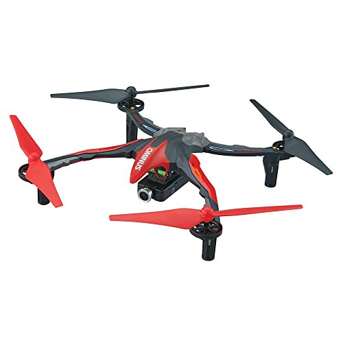 - Dromida Ominus First-Person View (FPV) Unmanned Aerial Vehicle (UAV) Quadcopter Ready-to-Fly (RTF) Drone with Radio System, Batteries and USB Charger (Red)