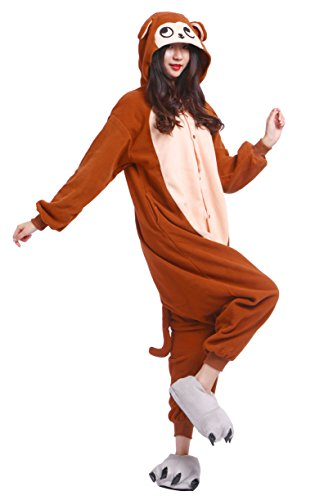Kigurumi Marrone Akaayuko Pigiama Animali Scimmia Unisex Costume Nightwear Onesies B7vSqwfnvX