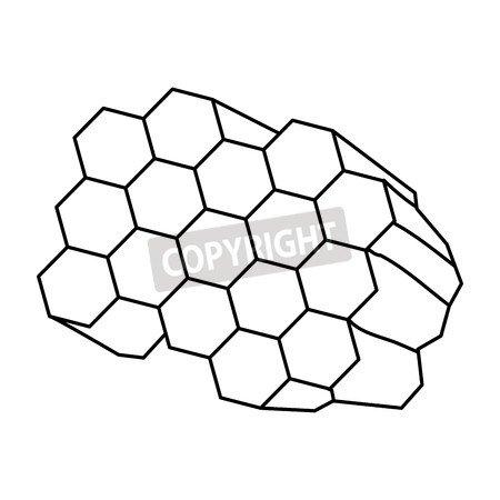 adrium Honeycomb dibujos animados Icon Vector Ilustración Graphic ...