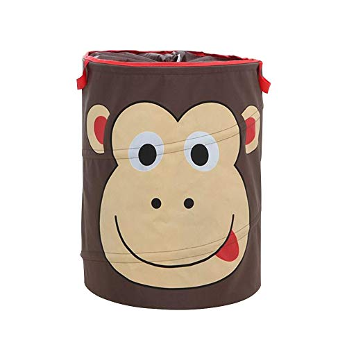 Big Dirty Monkey - YuShang Laundry Hamper Nylon Dirty Clothes Basket Animal Patchwork Storage Basket Laundry Organizer (Monkey)