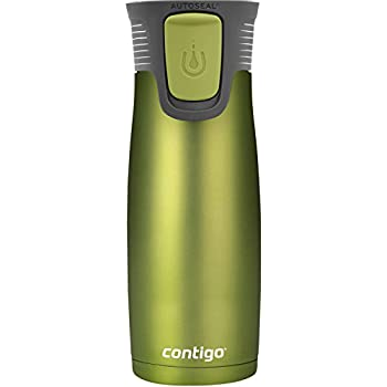 Contigo Autoseal Astor stainless steel travel Mug with easy-clean lid, 16 ounce Vibrant lime matte Limited edition