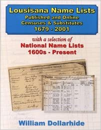Louisiana Name Lists - Published and Online Censuses & Substitutes ...