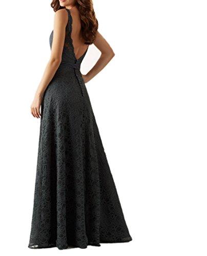 Damen Traeger Abendkleider Brautjungfernkleider Festlichkleider Spitze Blau Weinrot Brautmutterkleider Zwei Charmant Lang dRq6wZd